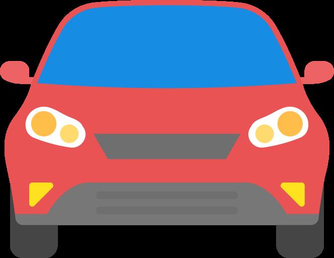 Иконка машины красного цвета