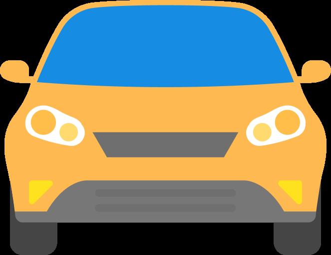 Иконка машины желтого цвета