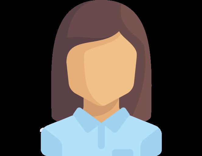 Иконка девушки в голубой рубашке