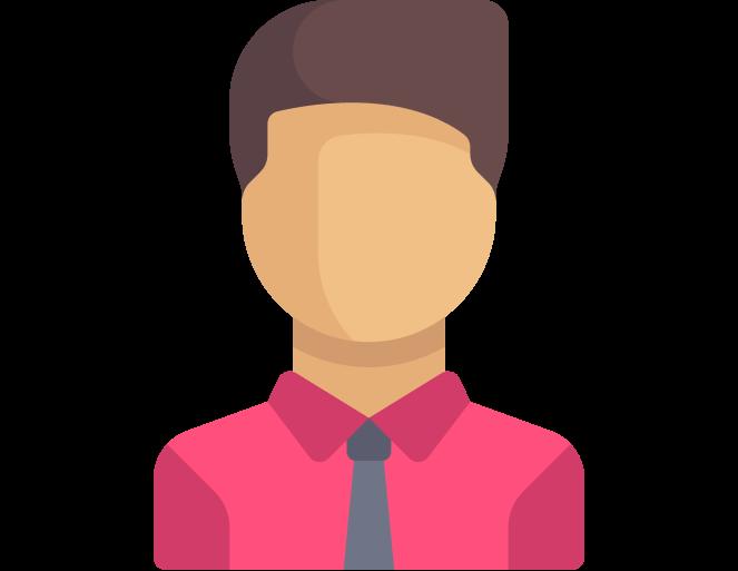Иконка мужчины в красной рубашке
