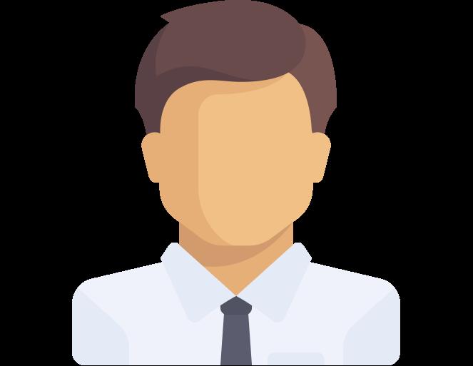Иконка мужчины в белой рубашке